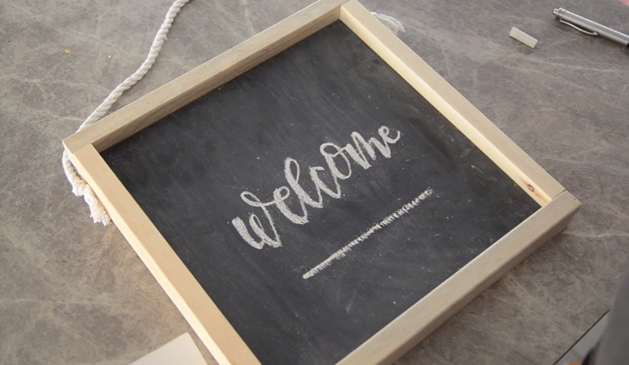 How to Make an Easy Wooden Chalkboard Welcome Sign